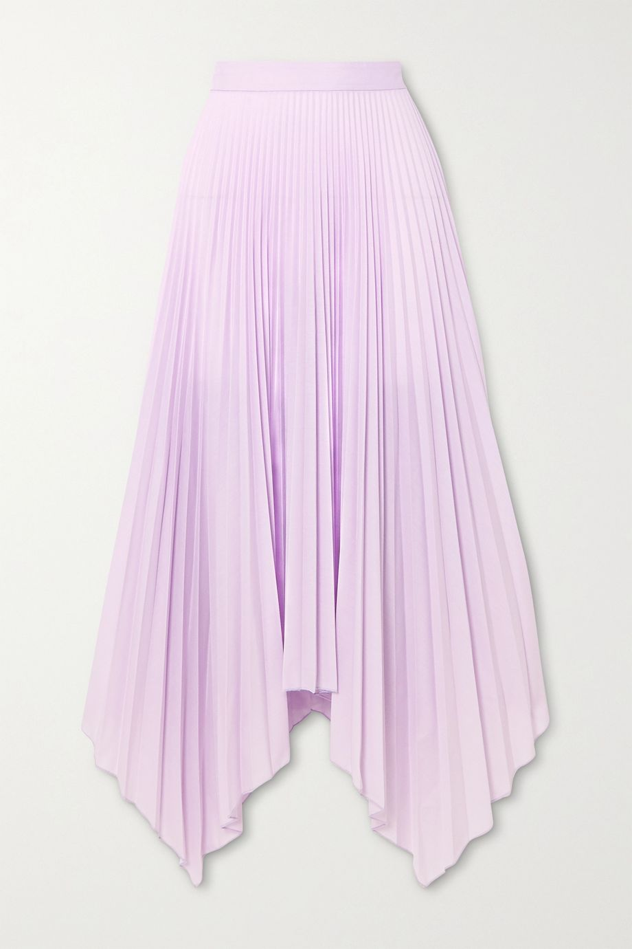 Paul & Joe Sortilege asymmetric pleated crepe midi skirt
