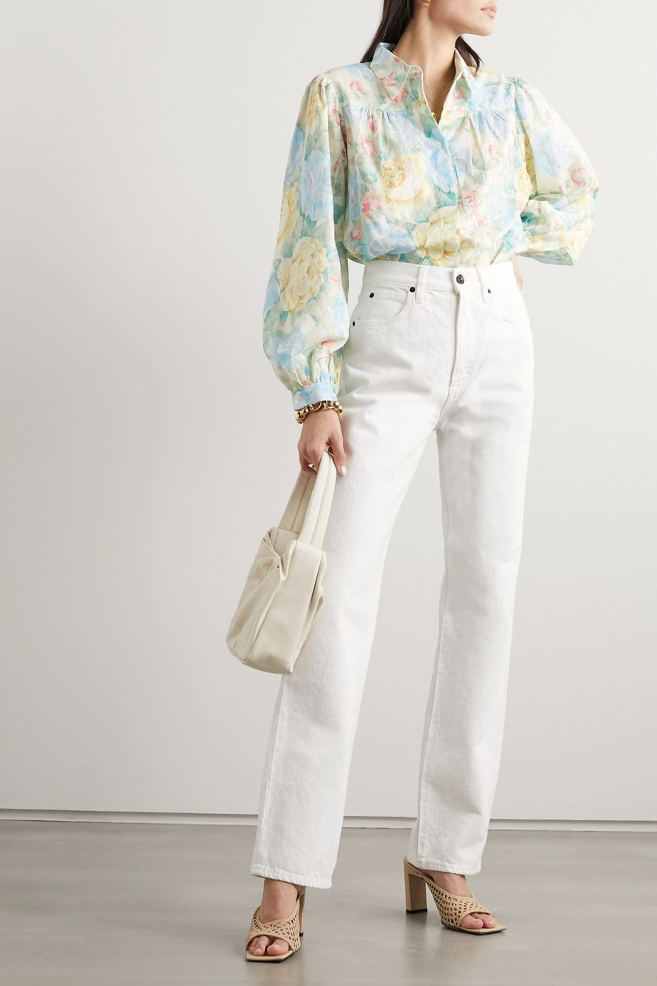 Paul & Joe Carmina floral-print cotton-jacquard blouse