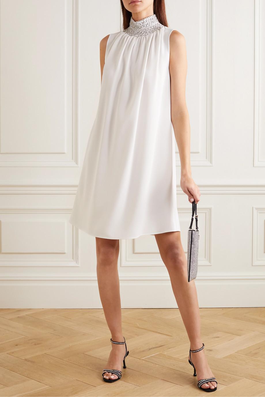 Prada Mini-robe en cady à perles