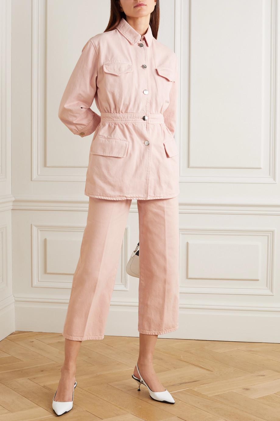 Prada Gathered denim jacket