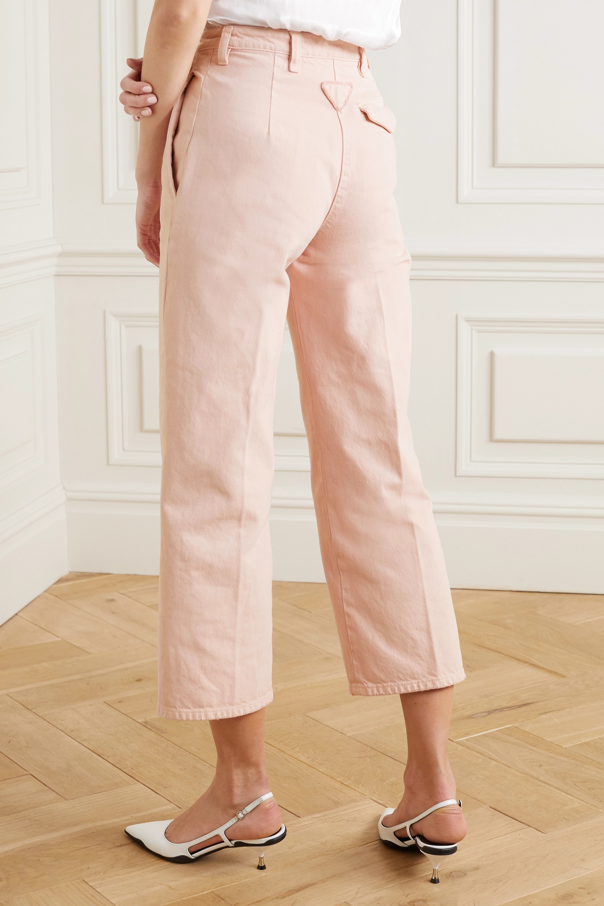 Prada Cropped high-rise straight-leg jeans