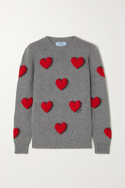 Prada Intarsia wool and cashmere-blend sweater