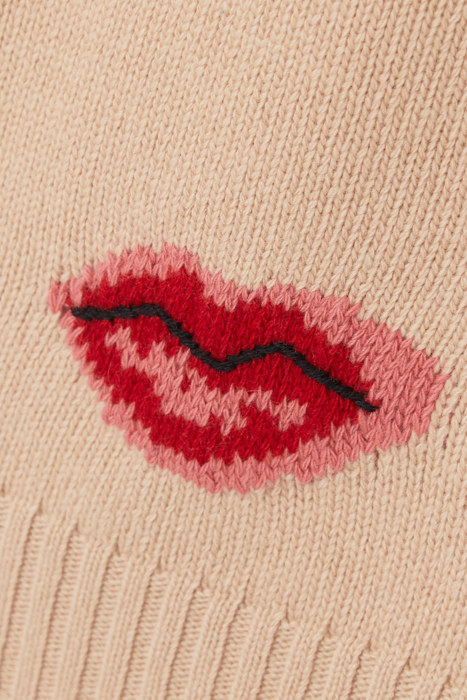 Beige Intarsia Wool And Cashmere-blend Sweater   Prada