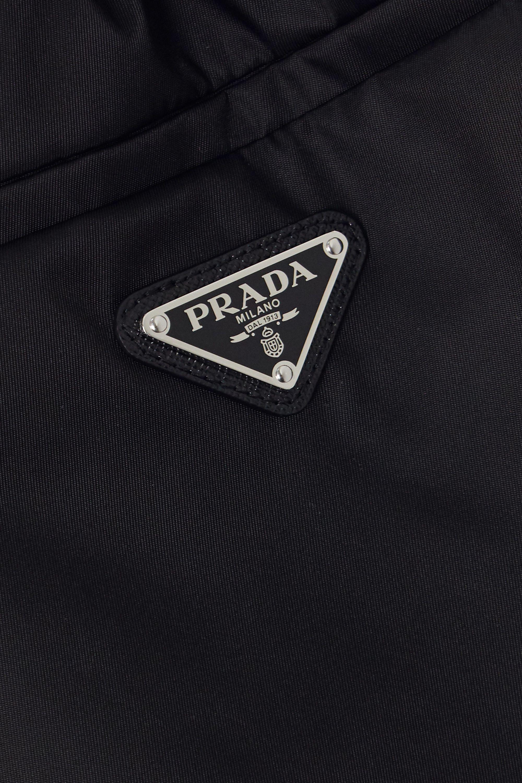 Black Appliquéd Nylon Shorts | Prada