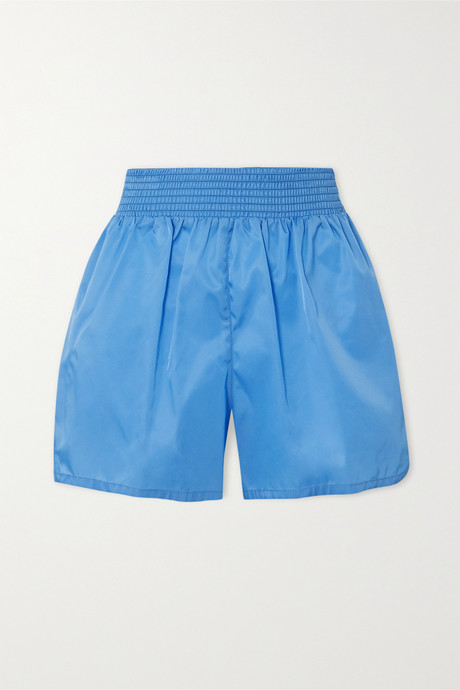 Blue Appliquéd nylon shorts | Prada z07Qu0
