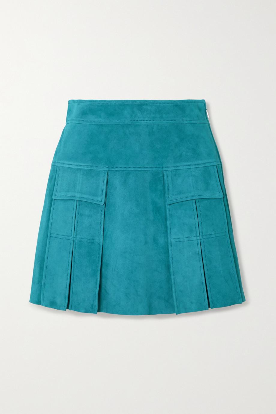 Prada Pleated suede mini skirt