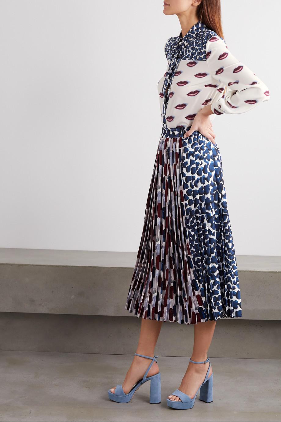 Prada Printed silk crepe de chine blouse