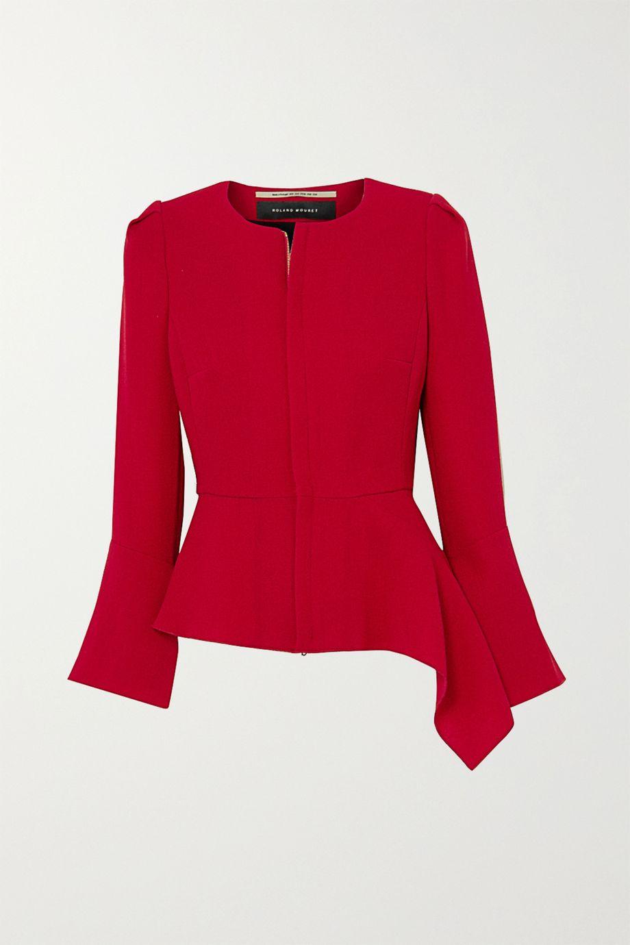 Roland Mouret Noto asymmetric wool-crepe jacket