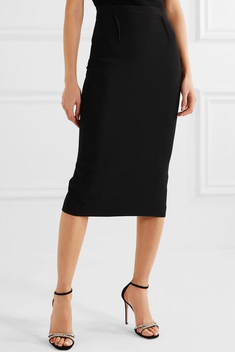Arreton crepe pencil skirt