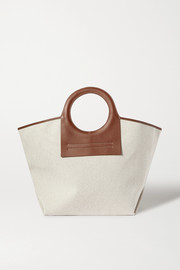 + NET SUSTAIN Cala large leather-trimmed canvas tote