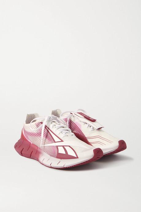 Pink + Cottweiler Zig 3D Storm rubber and mesh sneakers | Reebok RoWymC