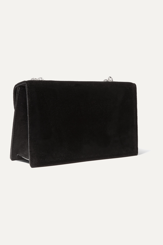 Oscar de la Renta Tro crystal-embellished velvet shoulder bag