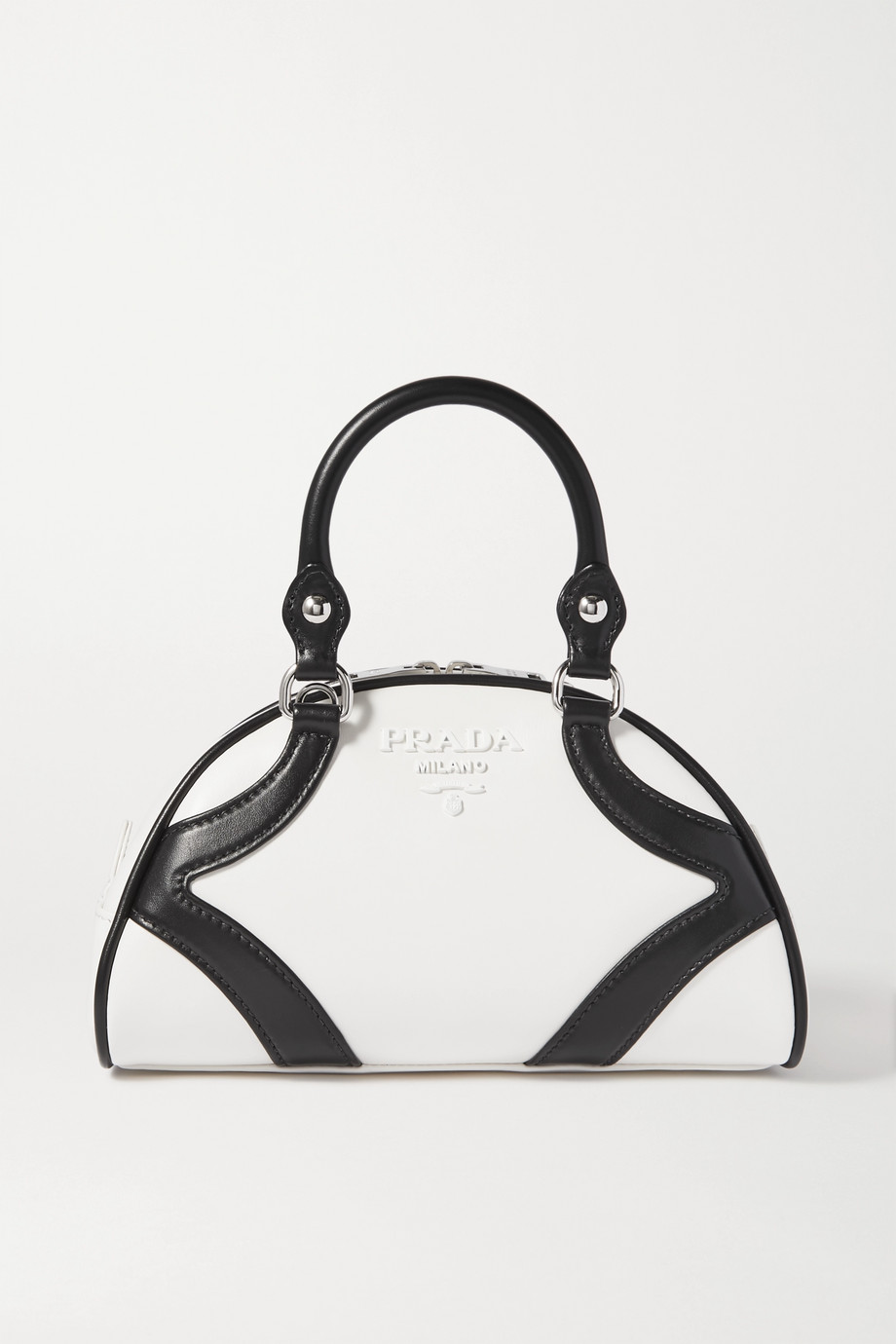 Prada Bowling two-tone leather tote