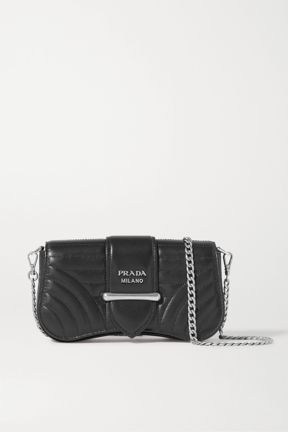Prada Diagramme quilted leather shoulder bag