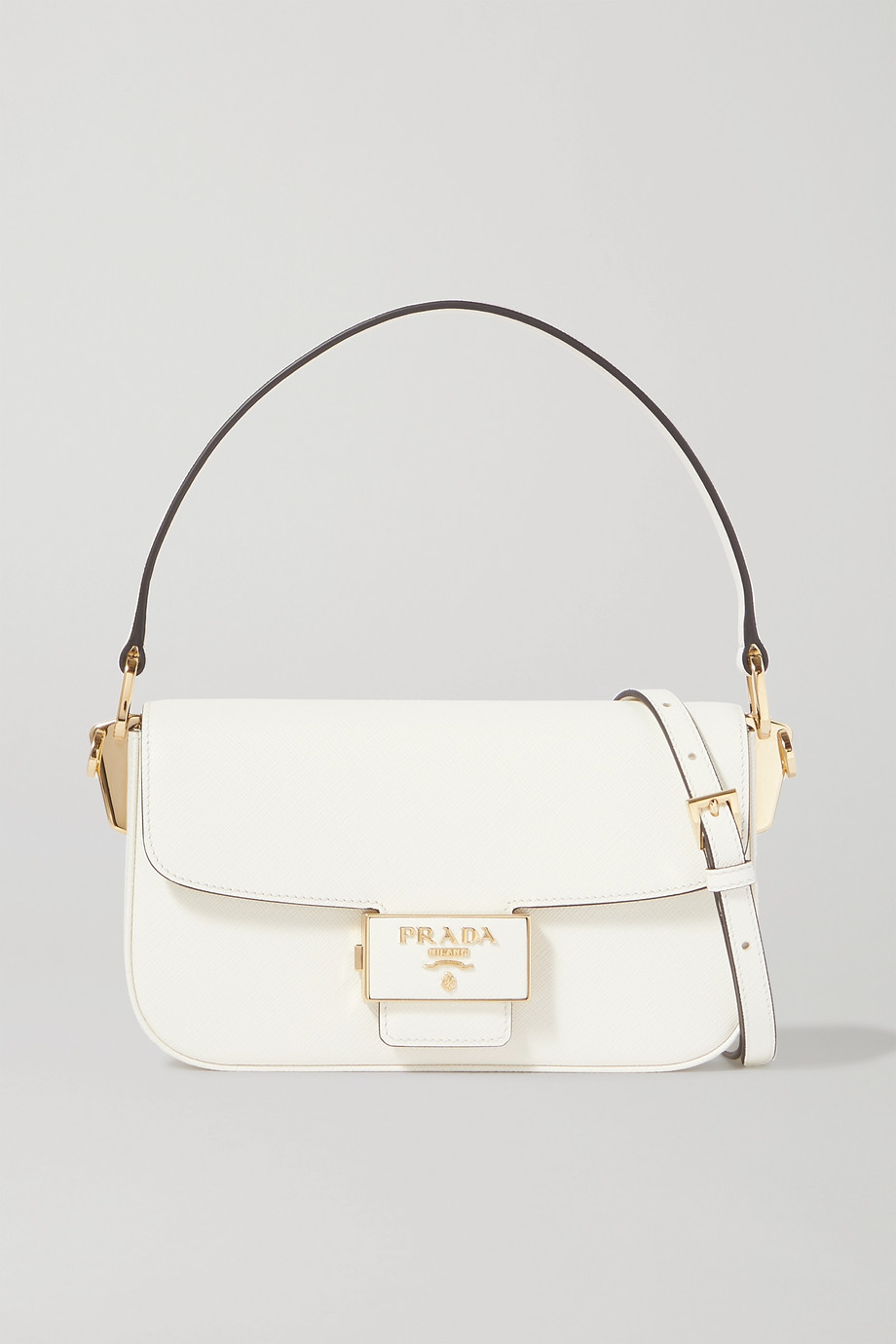 Prada Ensemble textured-leather shoulder bag