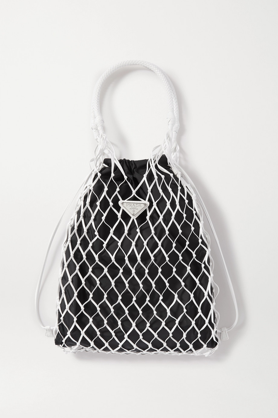 Prada String nylon and leather tote
