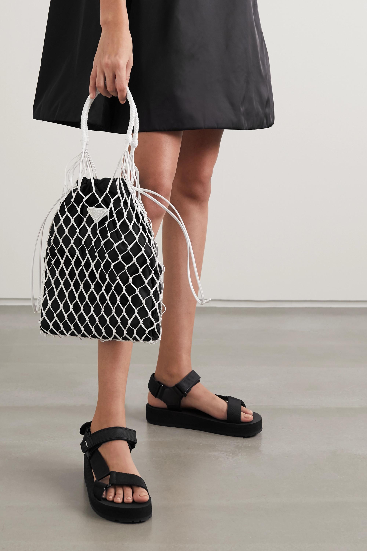 Prada String nylon and leather tote