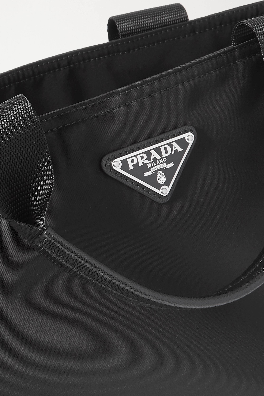 Prada Vela Tote aus Nylon mit Besätzen aus strukturiertem Leder