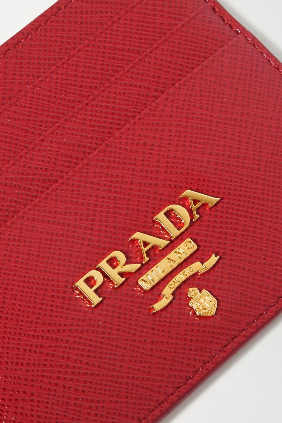 Prada Textured-leather cardholder