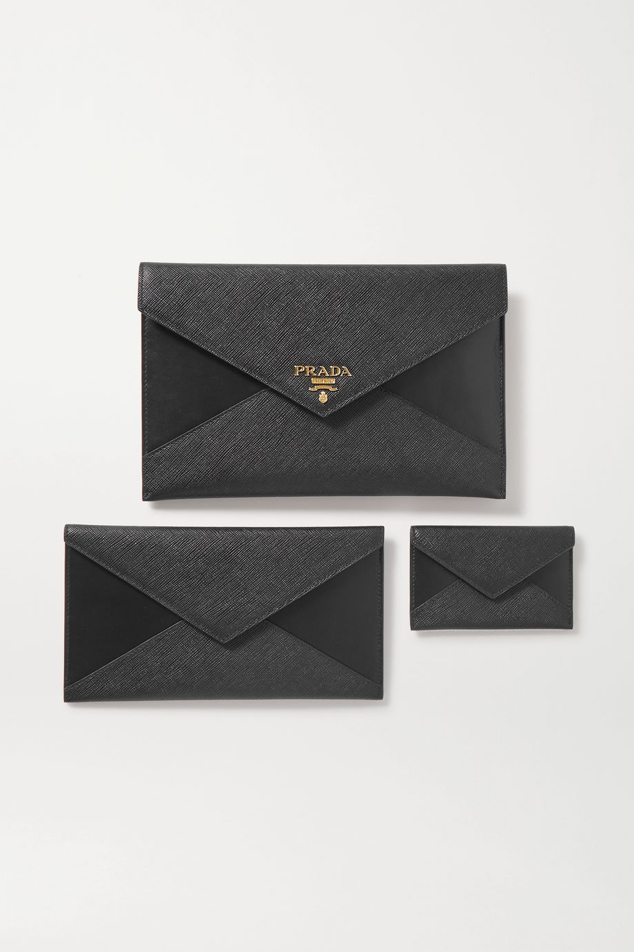 Prada Paneled leather pouch