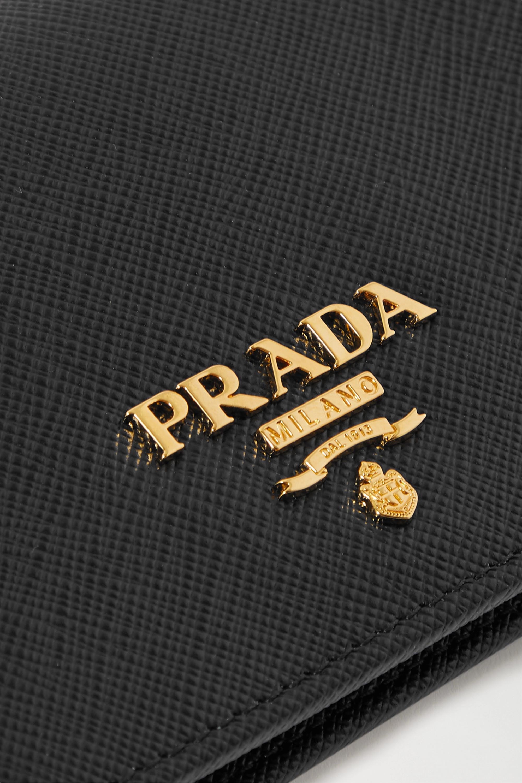 Prada Portemonnaie aus strukturiertem Leder