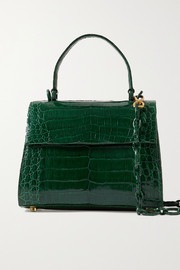 Lexi small crocodile tote