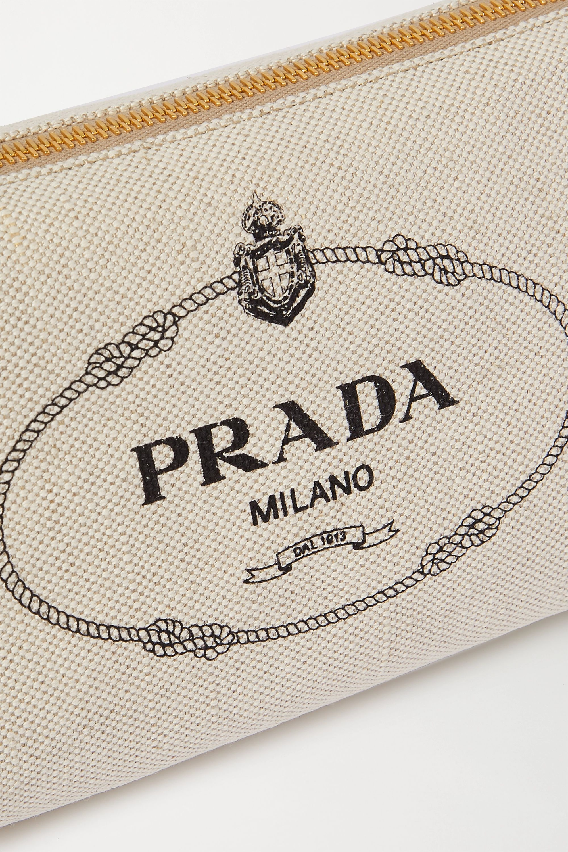 Prada Printed canvas cosmetics case