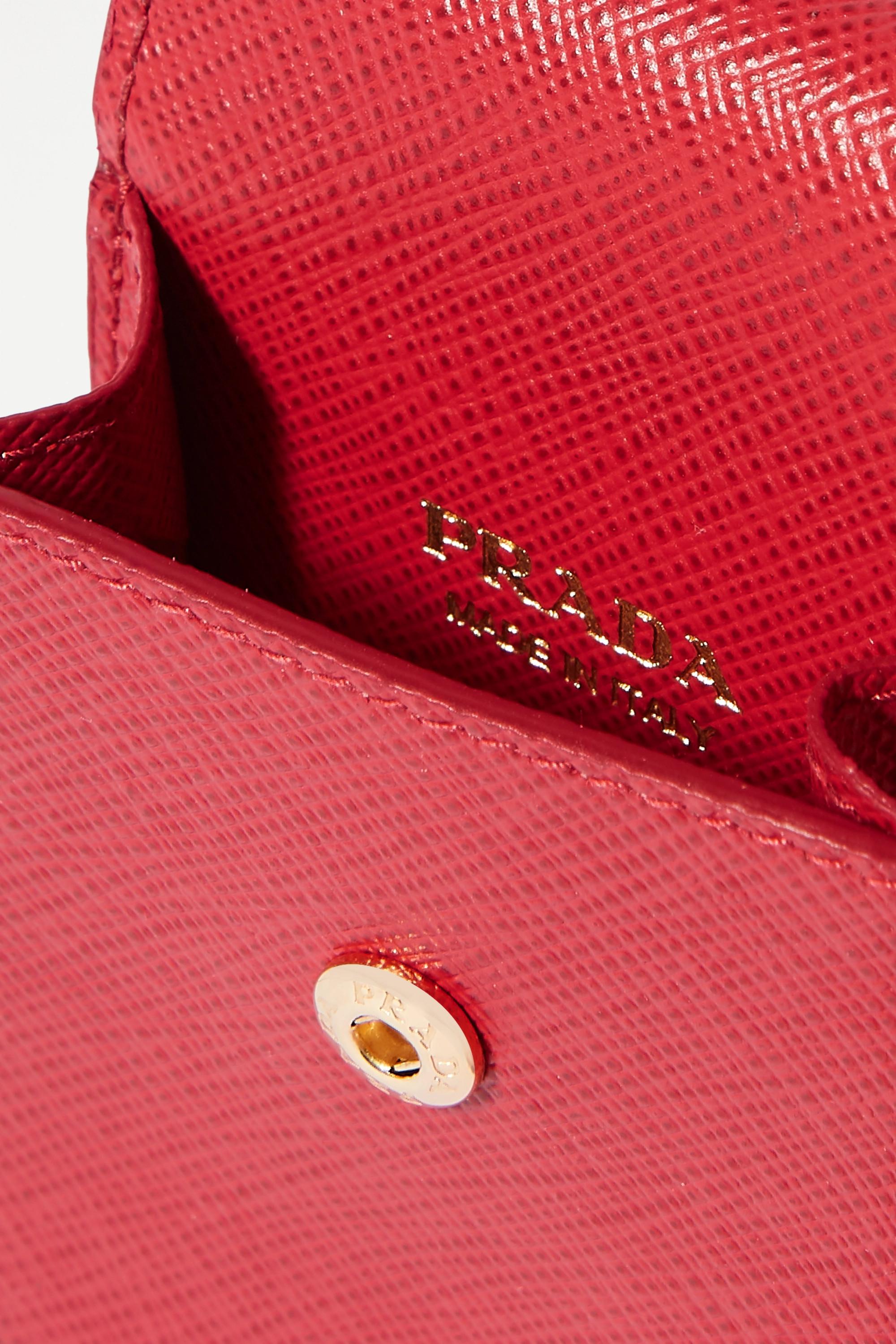 Prada Étui pour AirPods en cuir texturé
