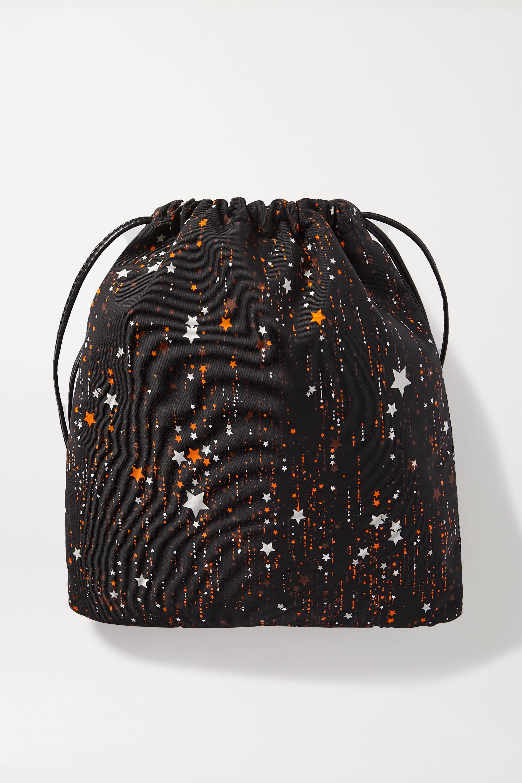 Miu Miu Leather-trimmed printed canvas pouch