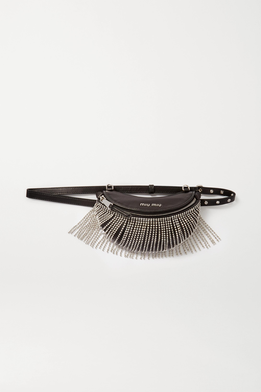 Miu Miu Crystal-embellished leather belt bag