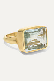 18-karat gold aquamarine ring