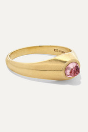 18-karat gold tourmaline ring