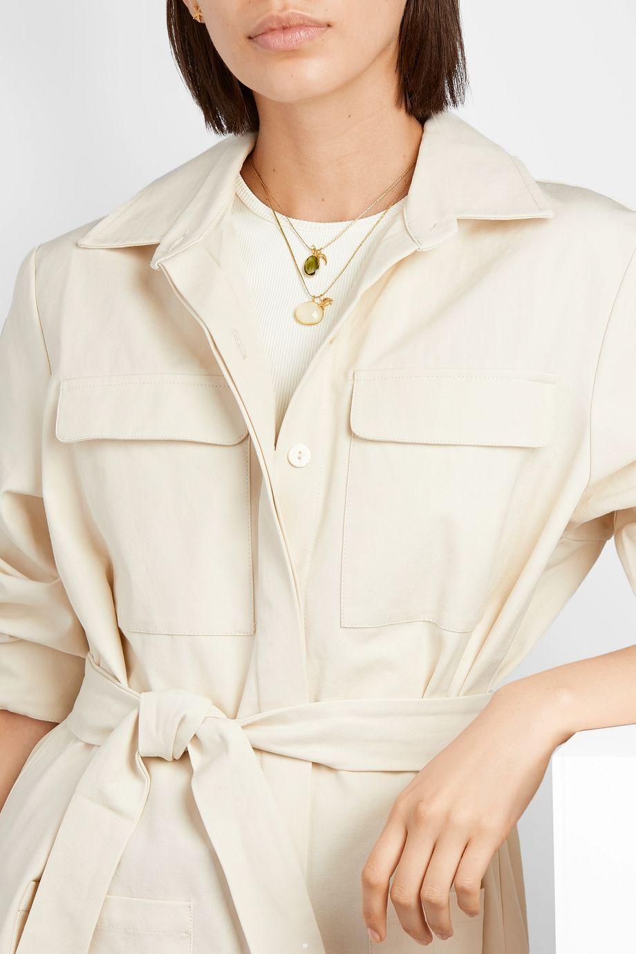 Pippa Small 18-karat gold moonstone necklace