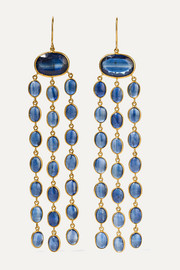 Pippa Small 18-karat gold kyanite earrings
