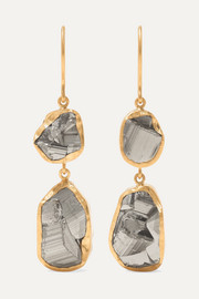 18-karat gold pyrite earrings