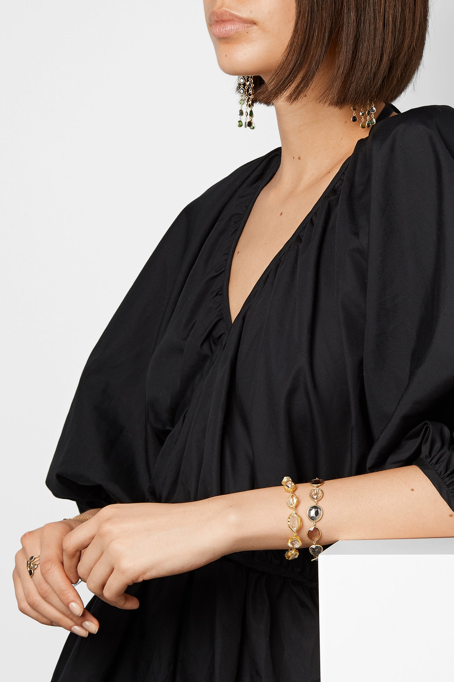 Pippa Small Bracelet en or 18 carats et pierres multiples
