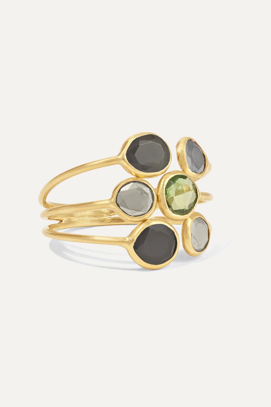 Pippa Small 18-karat gold multi-stone ring