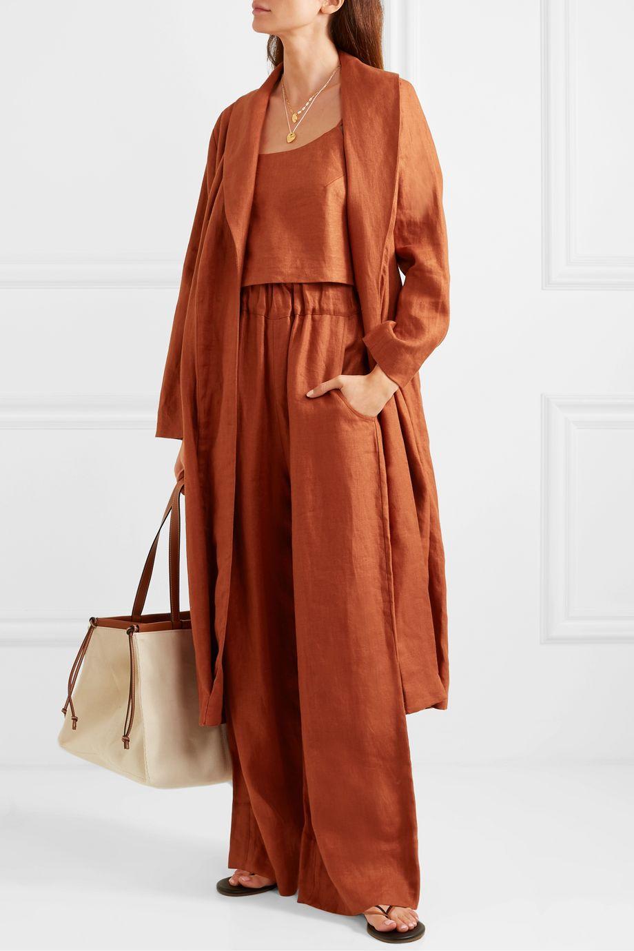 BONDI BORN + NET SUSTAIN Universal linen-twill wide-leg pants