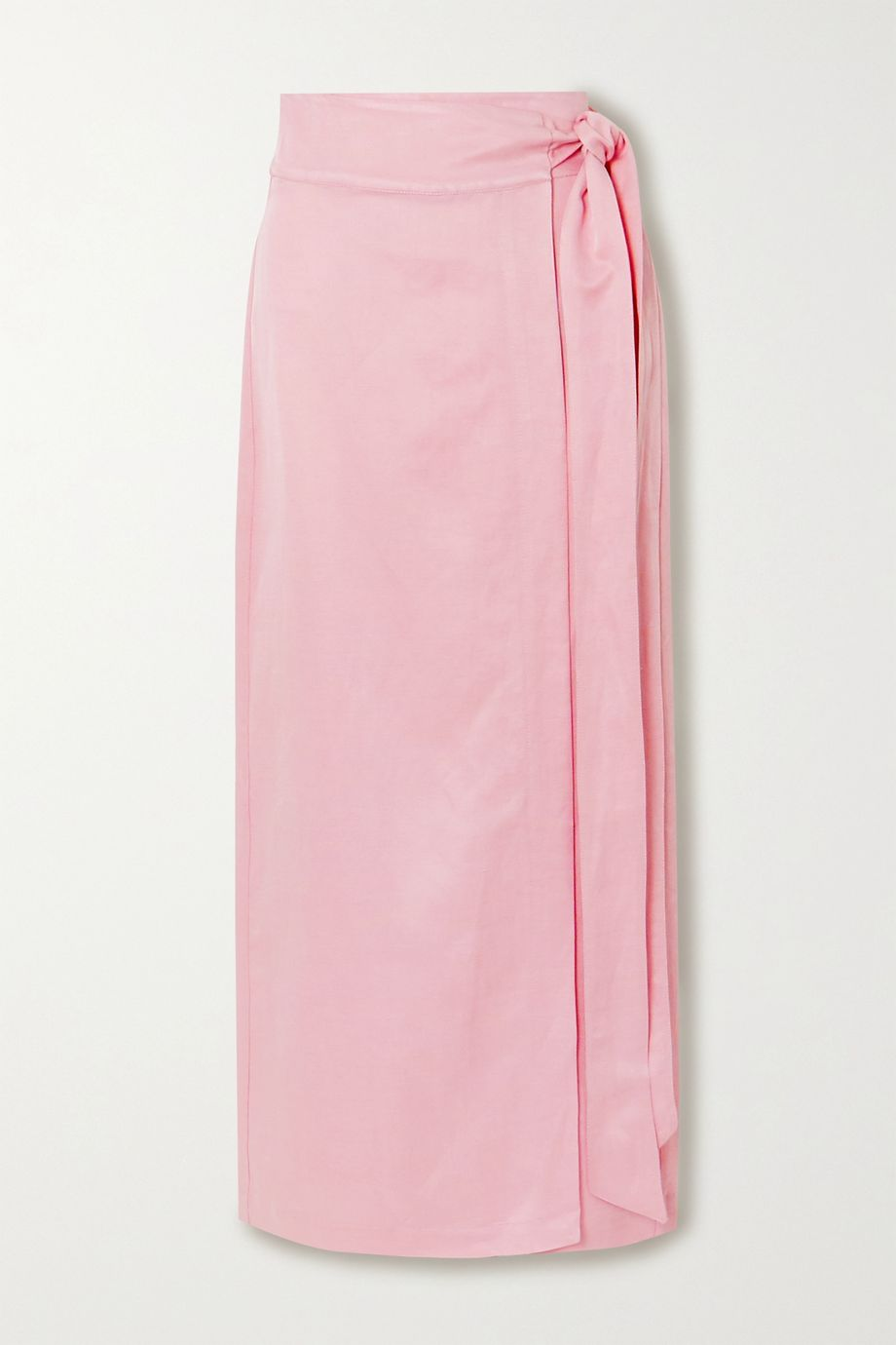 BONDI BORN Woven wrap maxi skirt