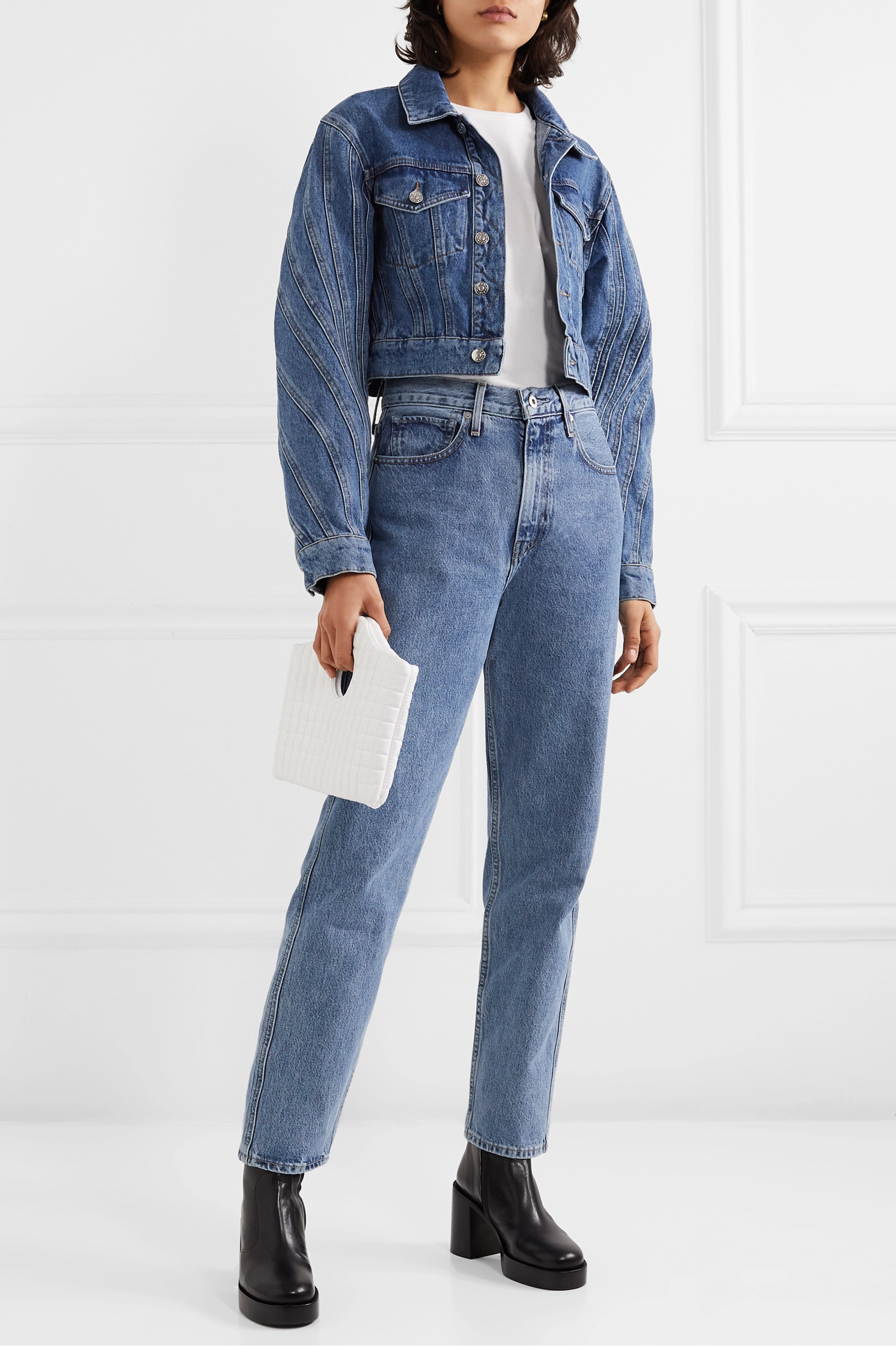Levi's® Made & Crafted® The Column halbhohe Jeans mit geradem Bein