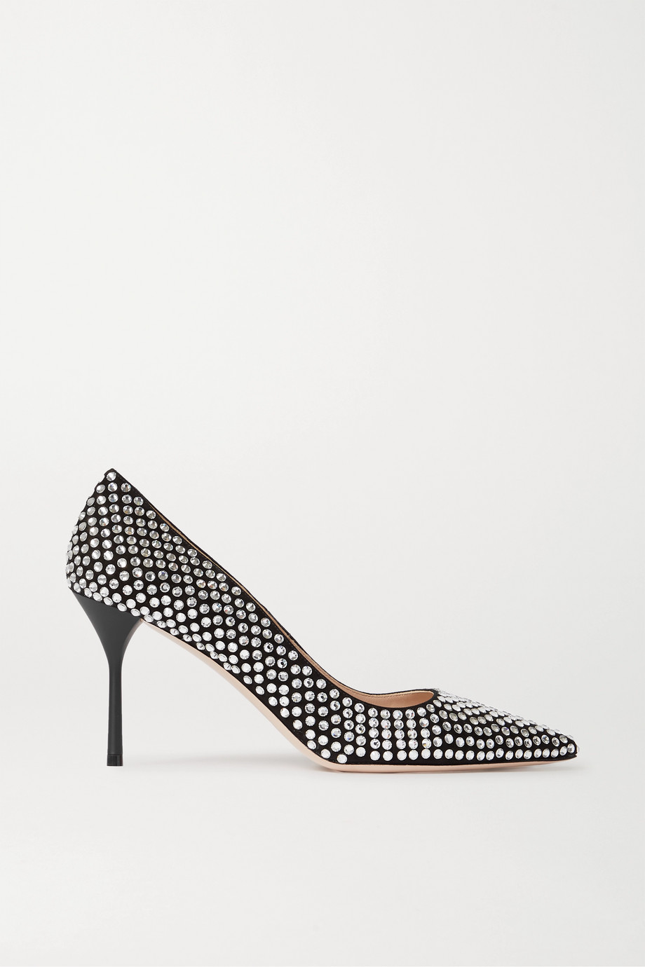 Miu Miu Crystal-embellished suede pumps