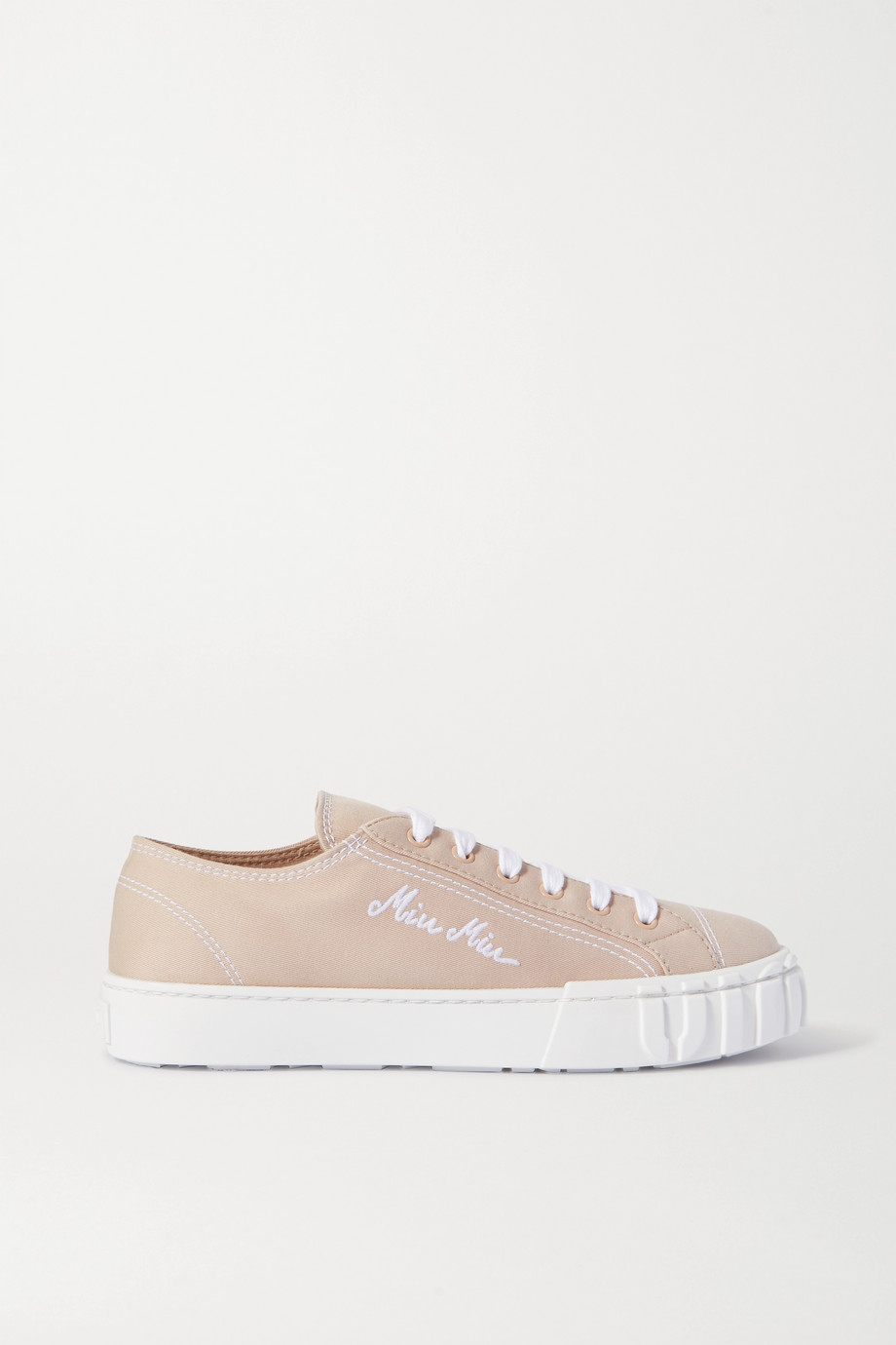 Miu Miu Embroidered canvas sneakers