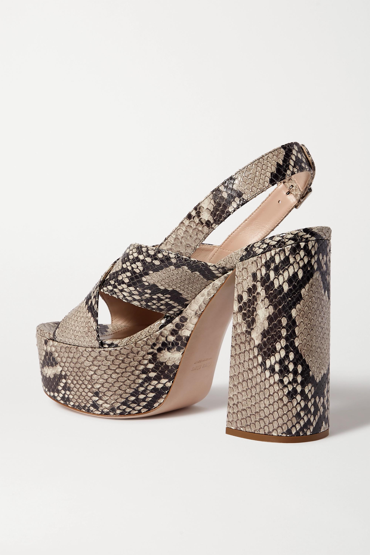 Miu Miu Snake-effect leather platform sandals