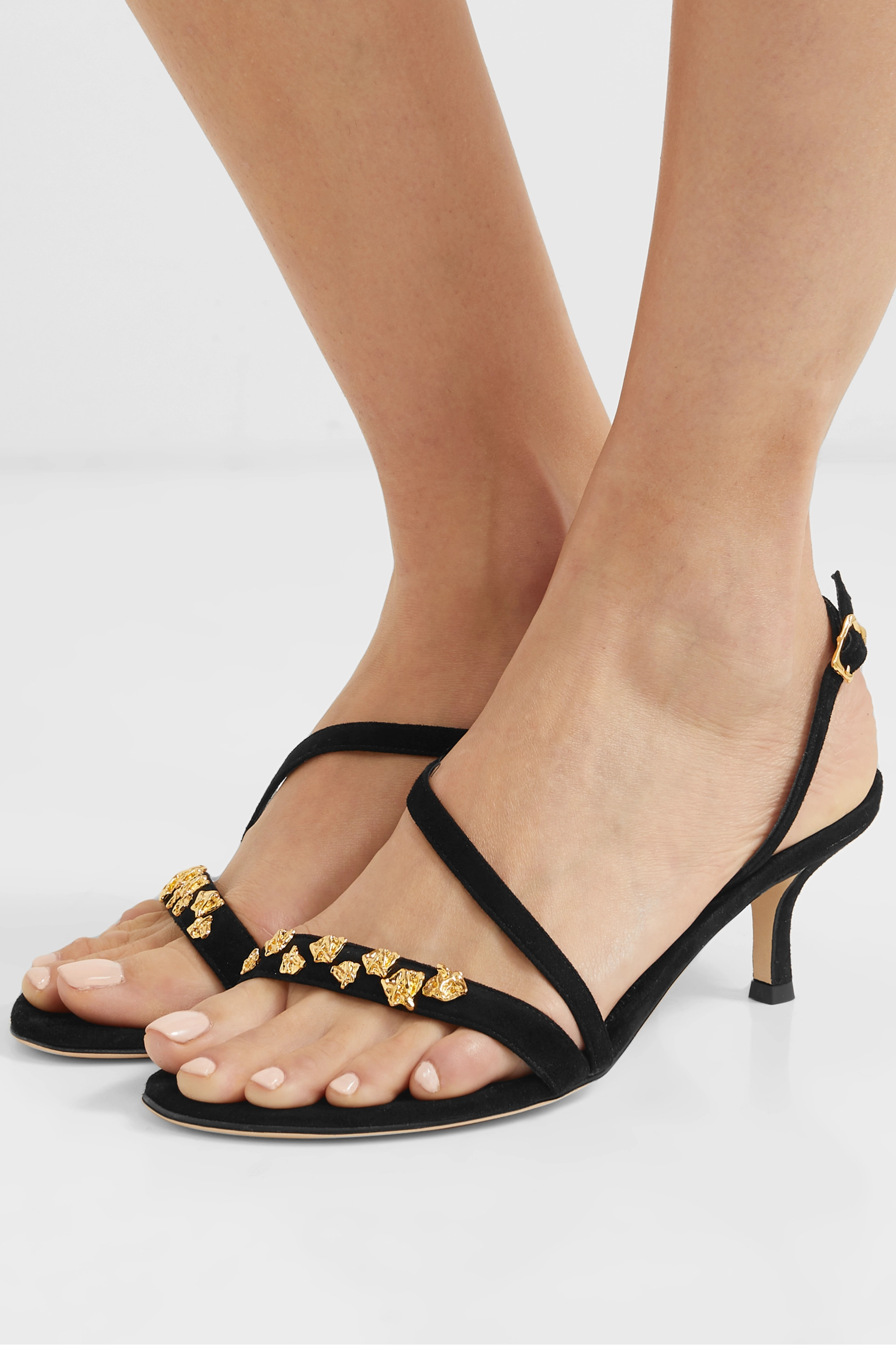 Alighieri The Fragment embellished suede sandals