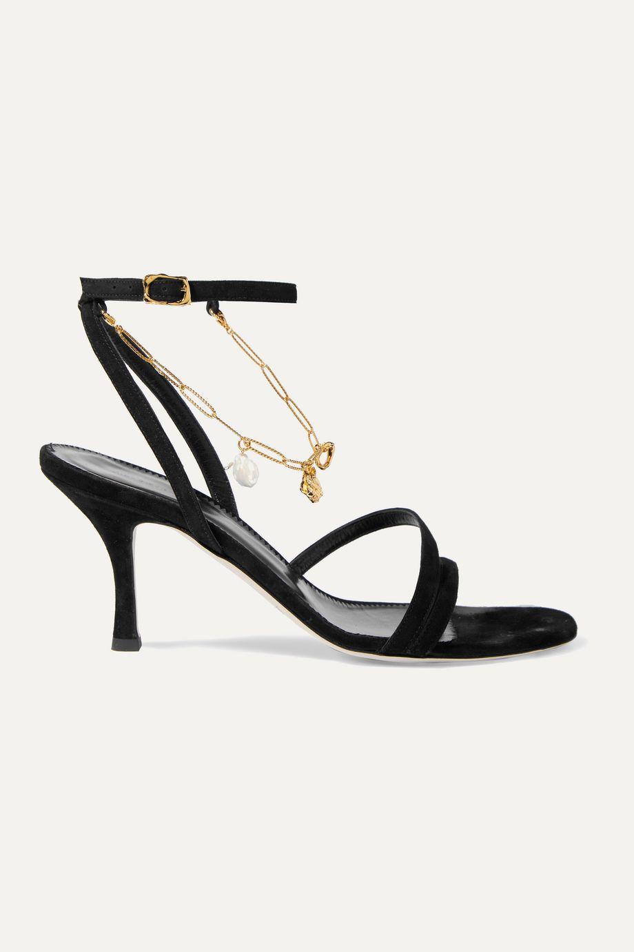 Alighieri The Wondering Traveller embellished suede sandals