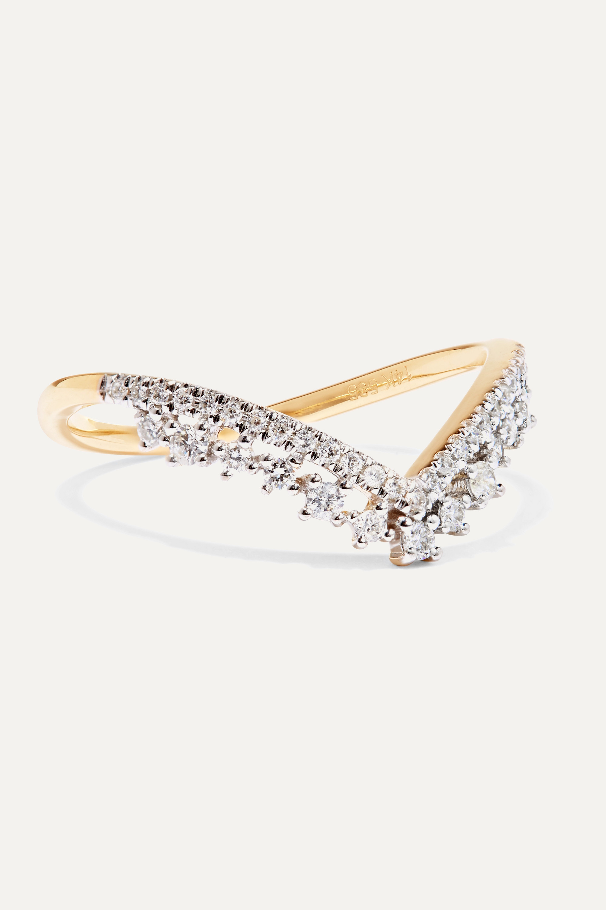 STONE AND STRAND 14-karat gold diamond ring