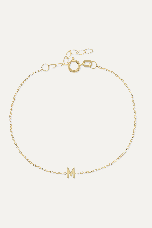 STONE AND STRAND Alphabet 14-karat gold bracelet