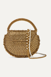 Mae Cassidy The Malini embellished gold-tone tote