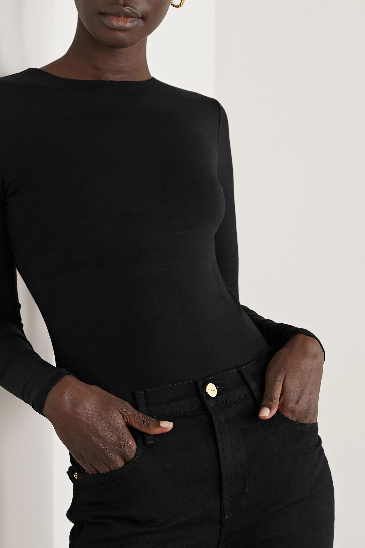 Ninety Percent + NET SUSTAIN Stretch-Tencel bodysuit