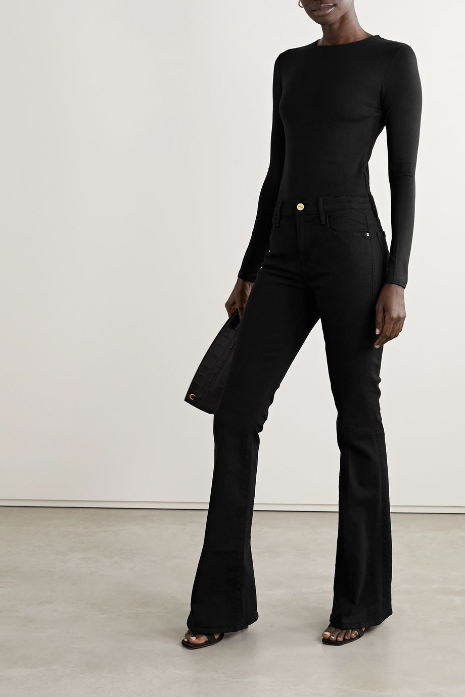 Ninety Percent + NET SUSTAIN Stretch-Tencel bodysuit